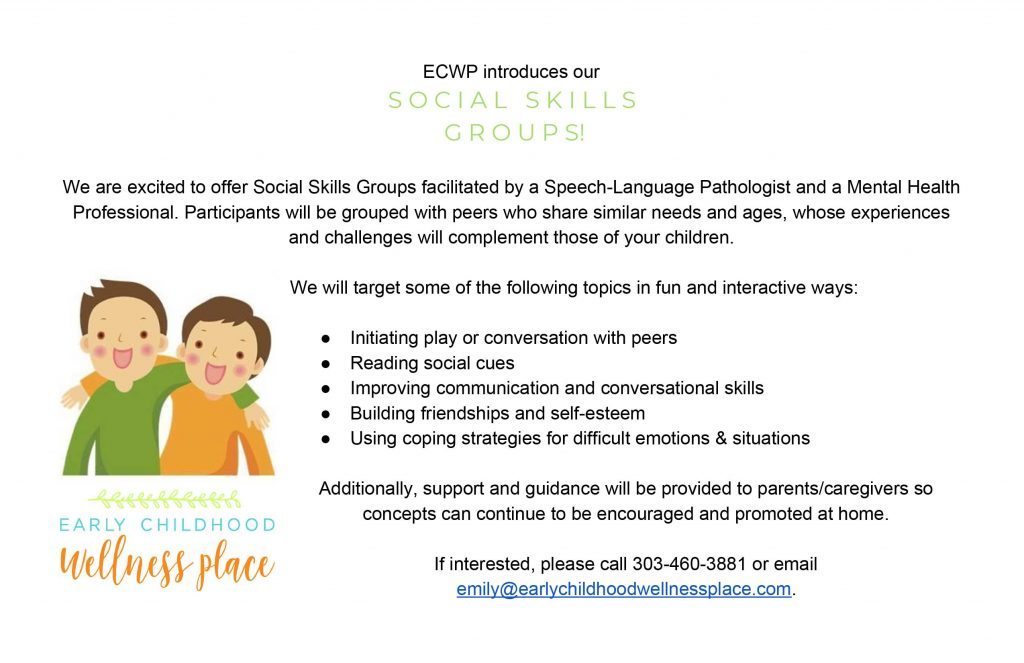 Kids Support Group Flyer | Children's Social Skills Group in Broomfield, CO 80021
